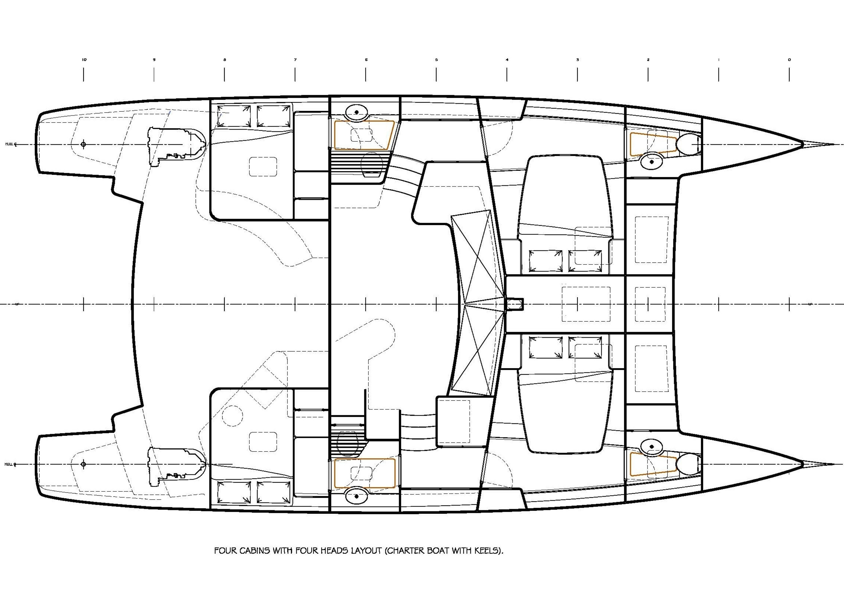 Four Cabin Layout