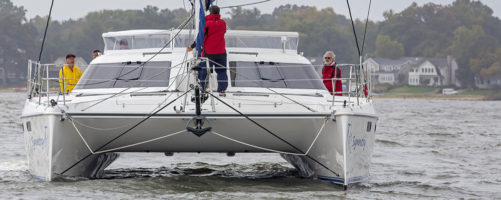 The Balance 451 Symmetry sailing in Annapolis MD for BOTY